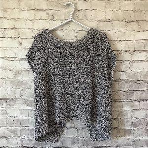 Eileen Fisher Medium M Black Open Back Sweater